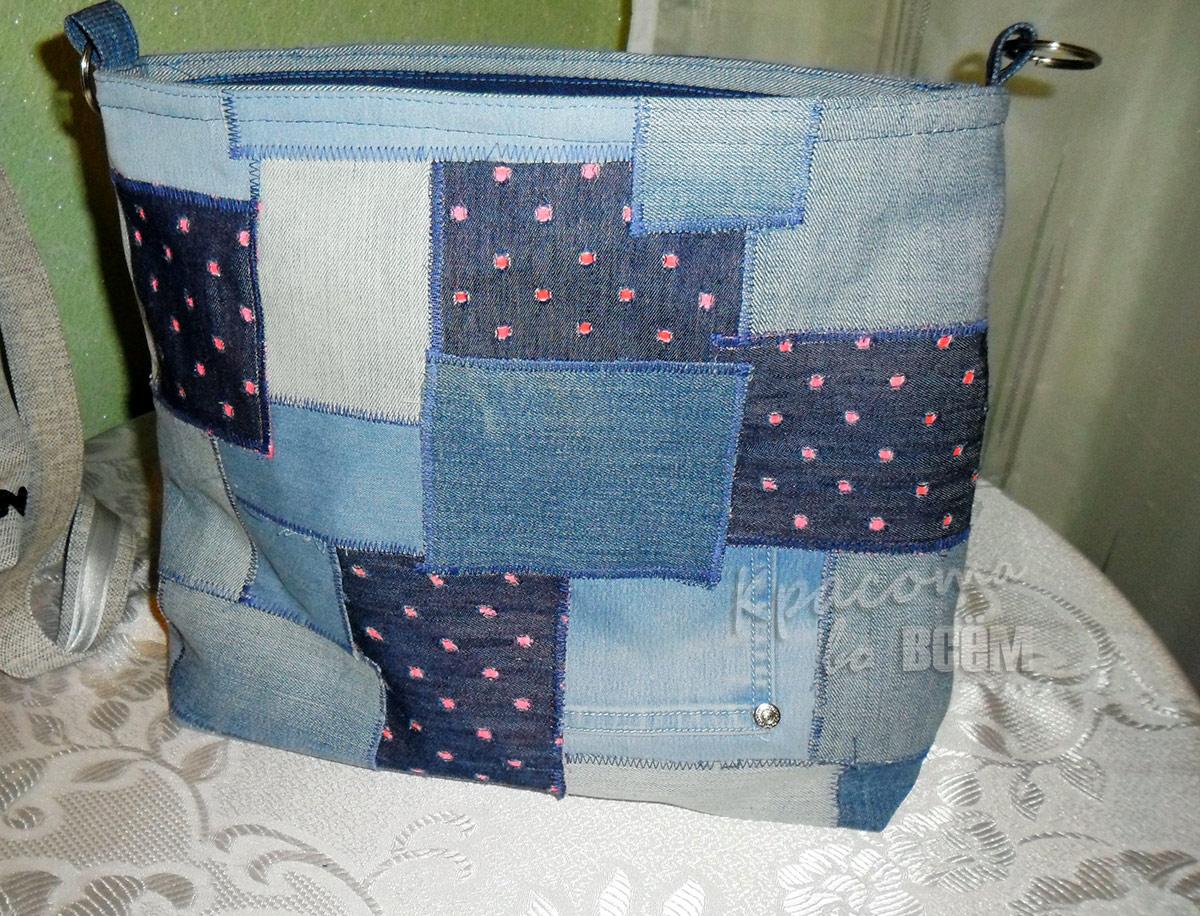 Оригинальные сумки из старых джинсов в стиле пэчворк