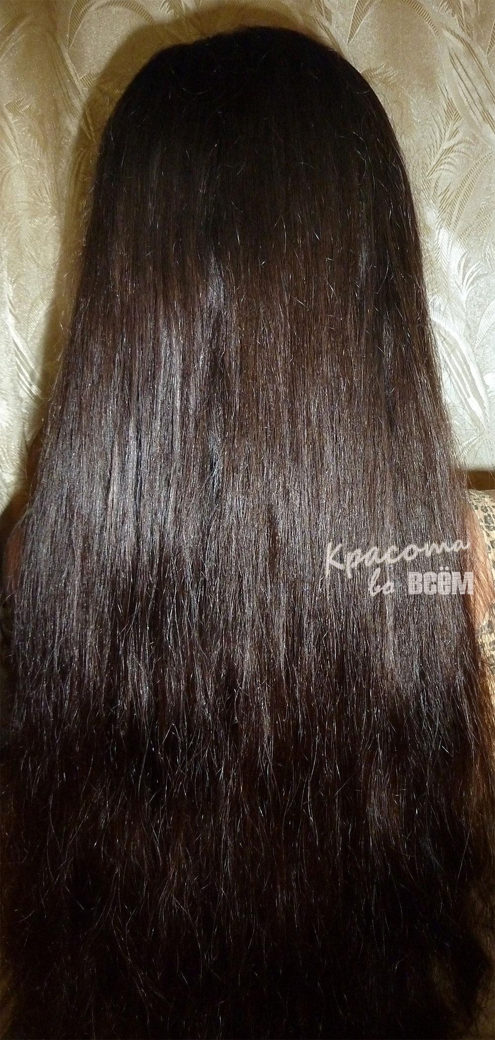 Кокосовое масло для красоты волос. Вид волос после кокосового масла издалека.