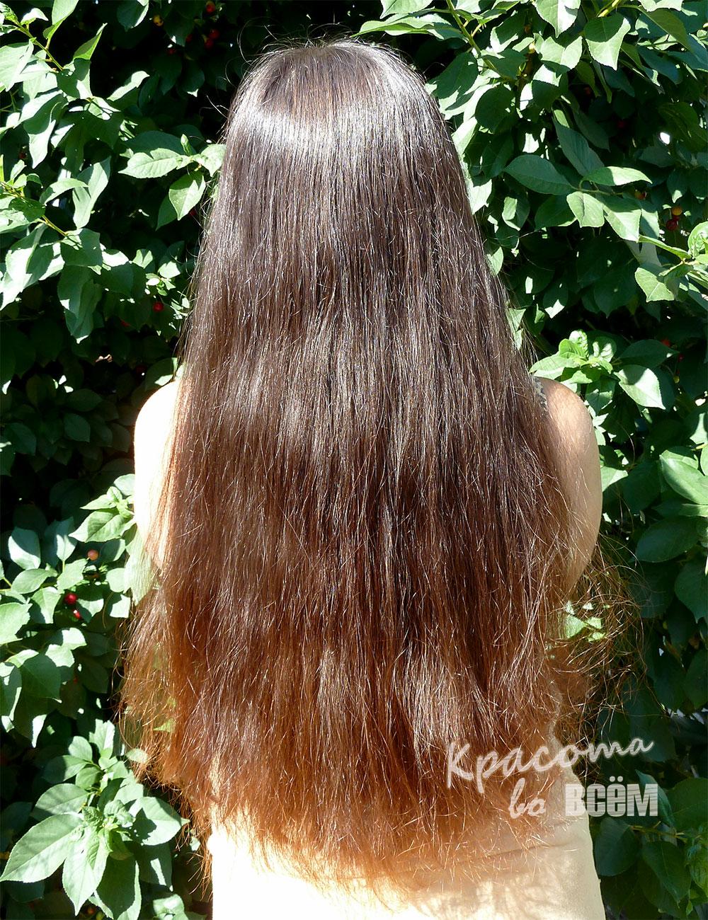 Кокосовое масло для красоты волос. Волосы при дневном свете после кокосового масла.