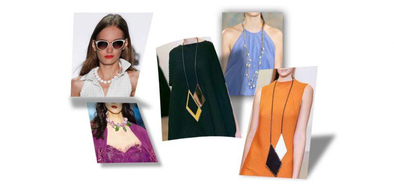 Модные украшения для шеи и серьги на весну — лето 2016